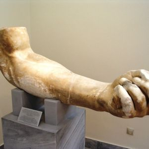 Aigeira Colossal Arm Of A Statue Of Zeus. Marble. Second Half Of The 2nd C. BC